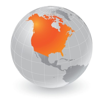 Trinity database coverage for USA and Canada
